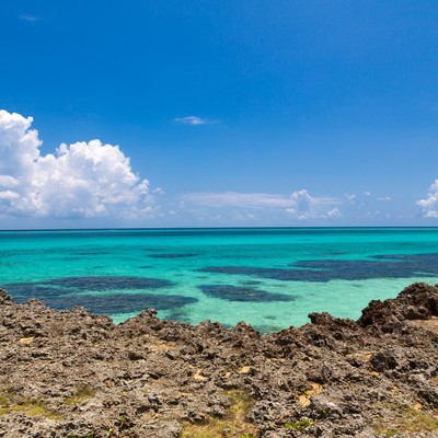 「池間島の青い海」の写真素材
