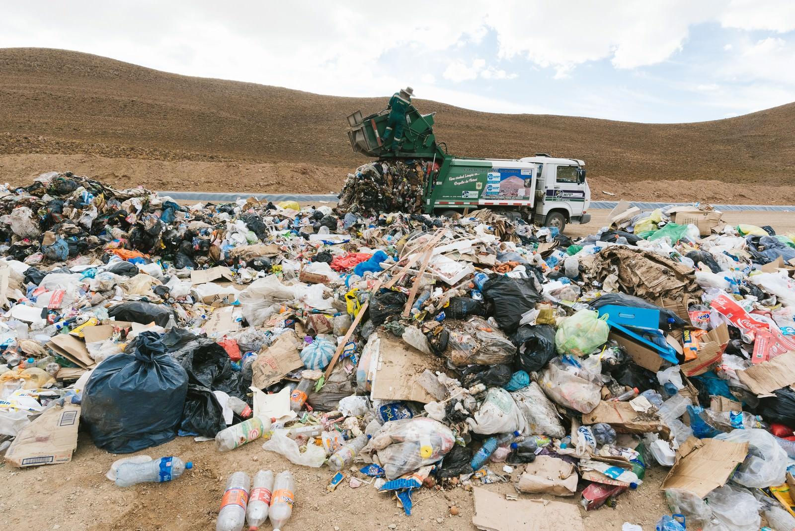 「ゴミの埋立地(ウユニ市)」の写真