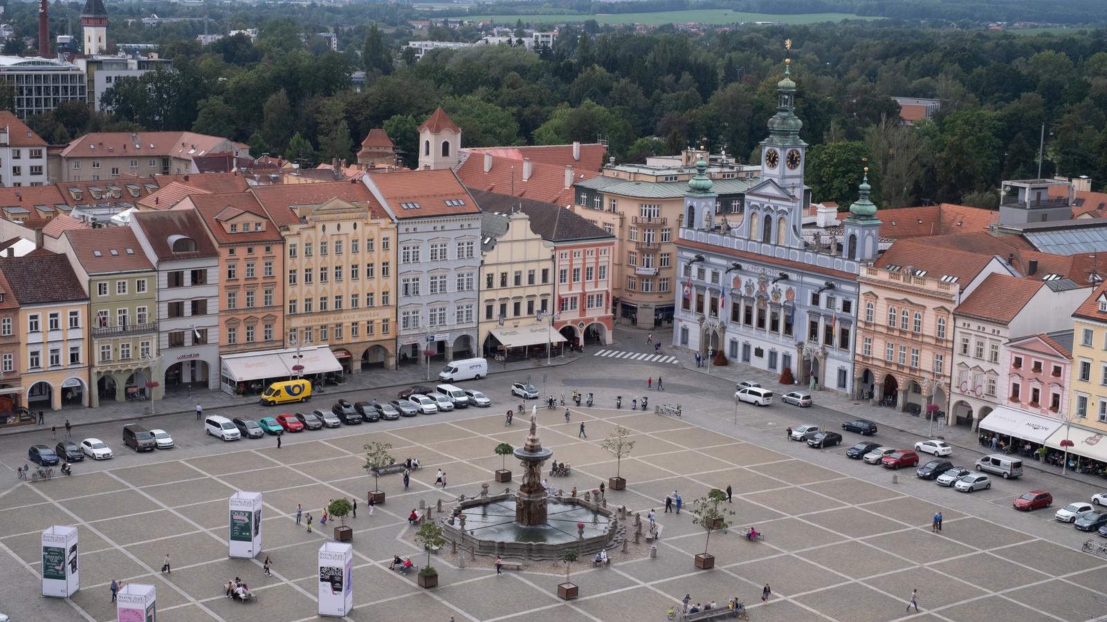 「チェスケー・ブジェヴィツェの広場(ブドヴァル)」の写真
