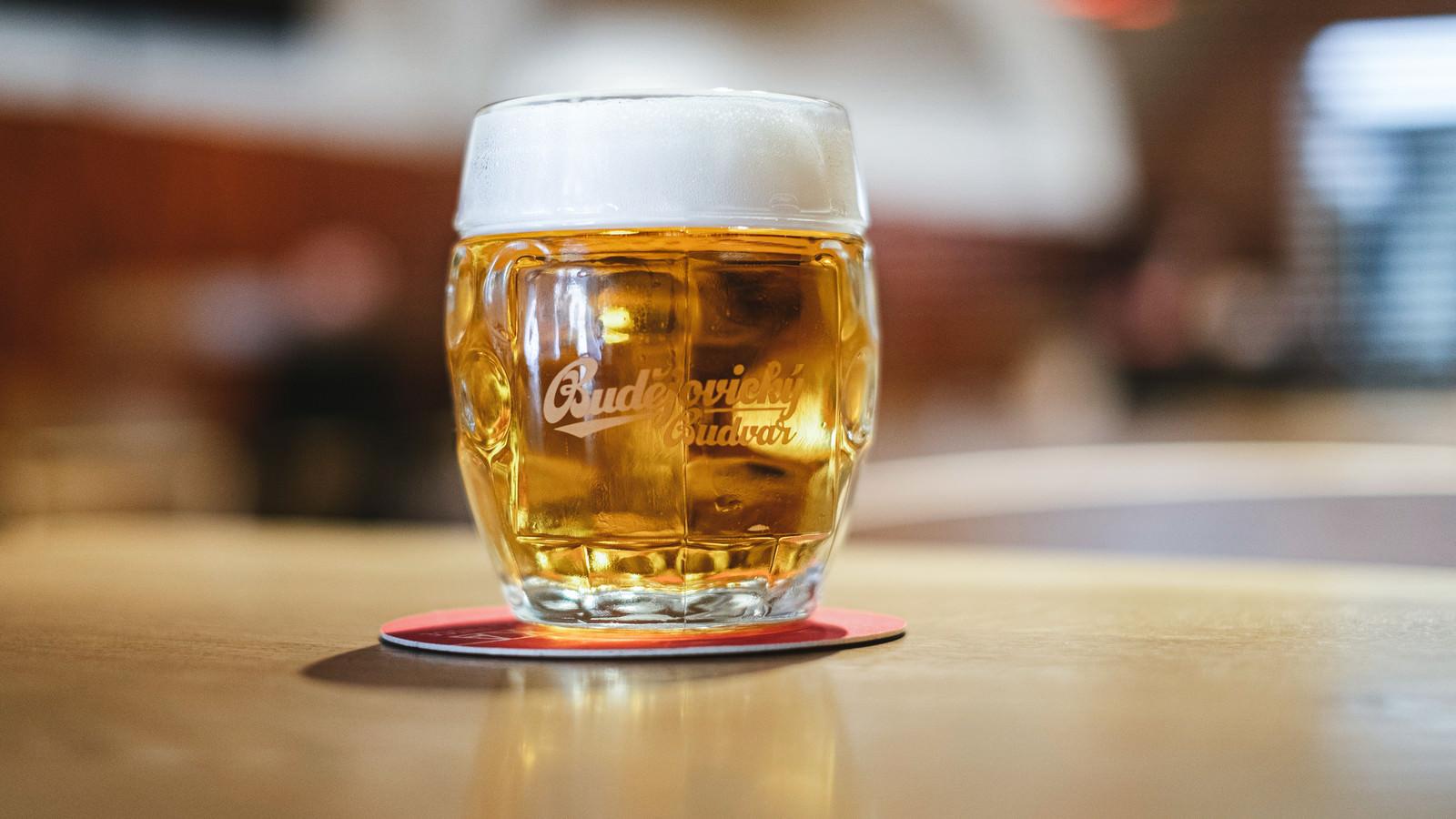 「手を付ける前のビール(チェコ共和国・ブドヴァル)」の写真