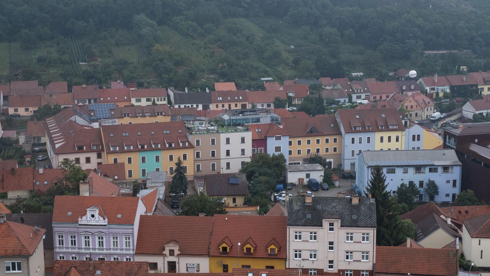 「特徴的な外壁の家(チェコ共和国・ミクロフ)」の写真