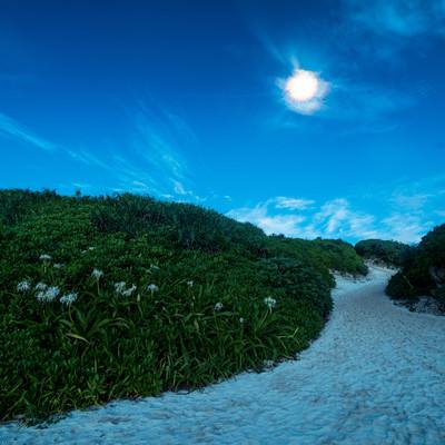 「砂山ビーチ(宮古島)の夜景」の写真素材