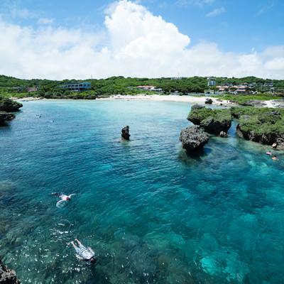 「沖縄のシュノーケリングスポット」の写真素材