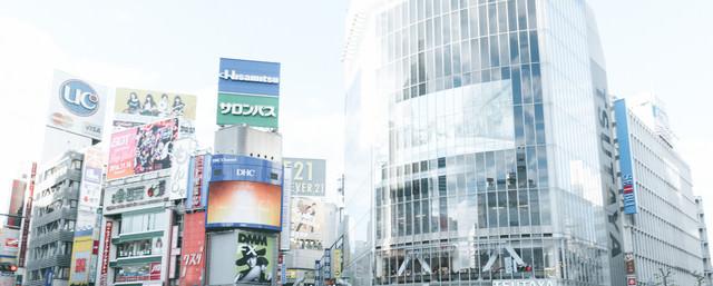 渋谷駅前の様子の写真