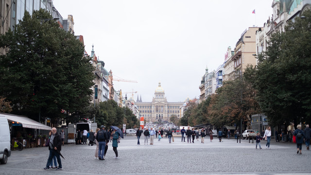 プラハのシャンゼリゼ(ヴァーツラフ広場)の写真