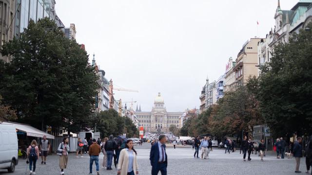 プラハにあるヴァーツラフ広場(チェコ共和国)の写真