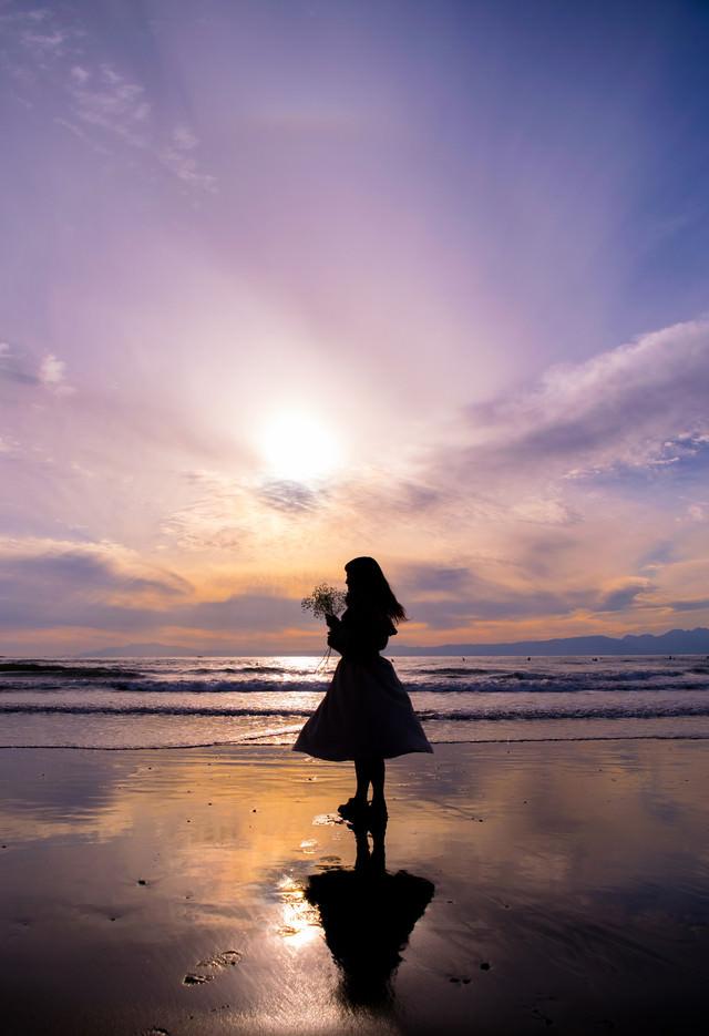海辺のサンセットの写真