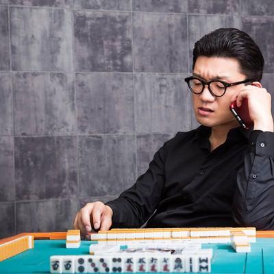「麻雀マナー:お電話の際はメンバー代走をお願いします」の写真素材