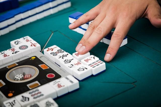 捨牌は6枚ごとに列を変更しますの写真