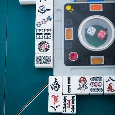 「捨て牌の様子」の写真素材