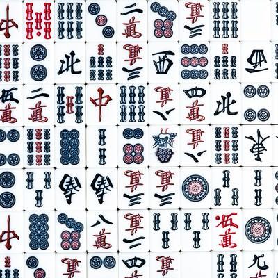「麻雀牌の壁紙素材」の写真素材