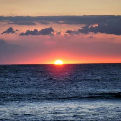 「ハワイ島サンセット」の写真素材