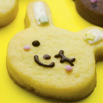 バレンタイン用うさぎのクッキーの写真