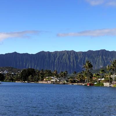 「ハワイ山脈」の写真素材
