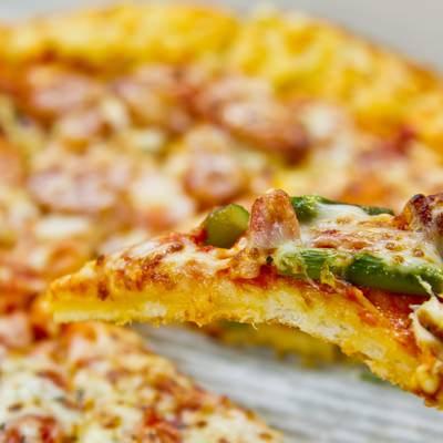 「一切れのピザ」の写真素材