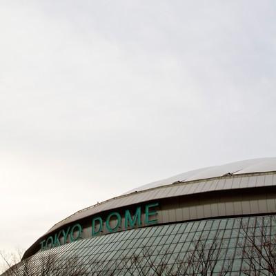「曇り空と東京ドーム」の写真素材