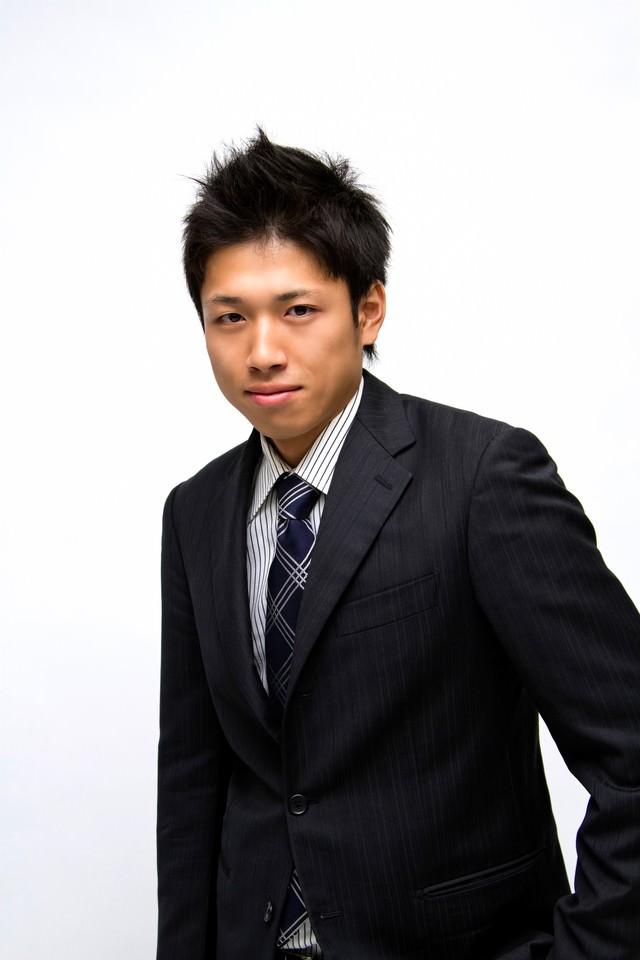 スーツ姿のサラリーマンの写真