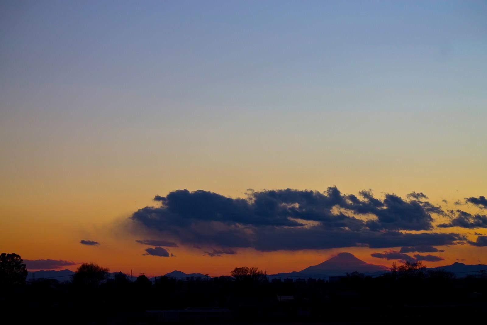 「大禍時と富士」の写真