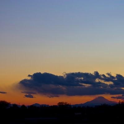 大禍時と富士の写真
