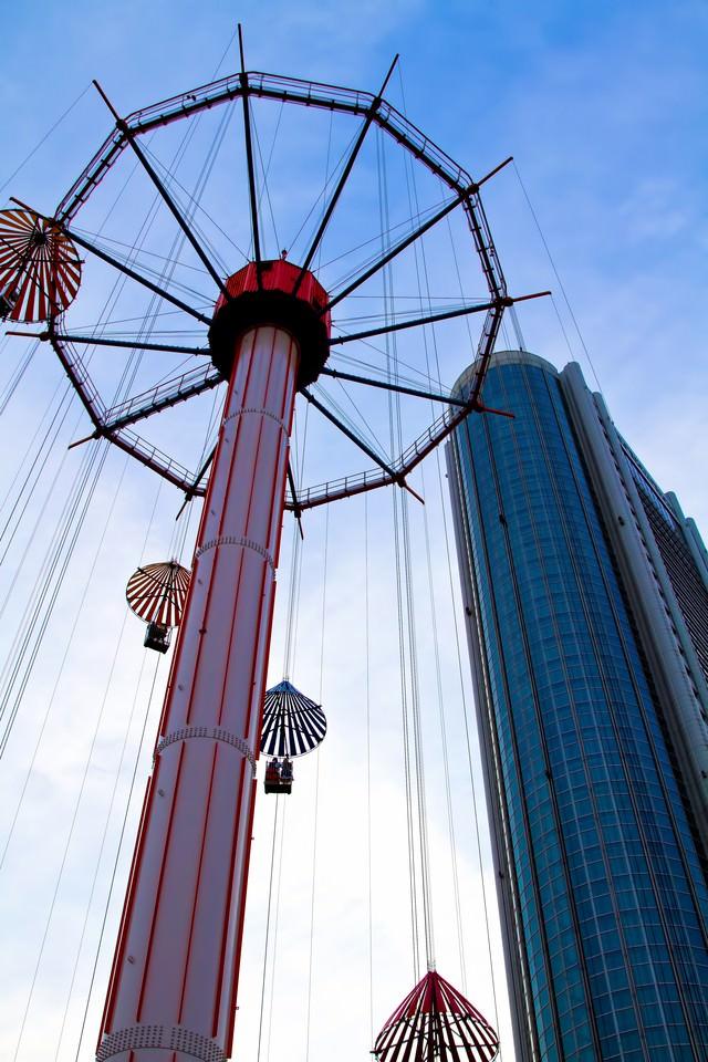 東京ドームシティのパラシュートランドの写真