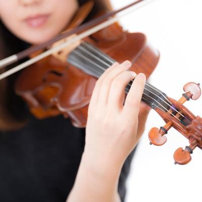 「ヴァイオリン演奏風景」の写真素材