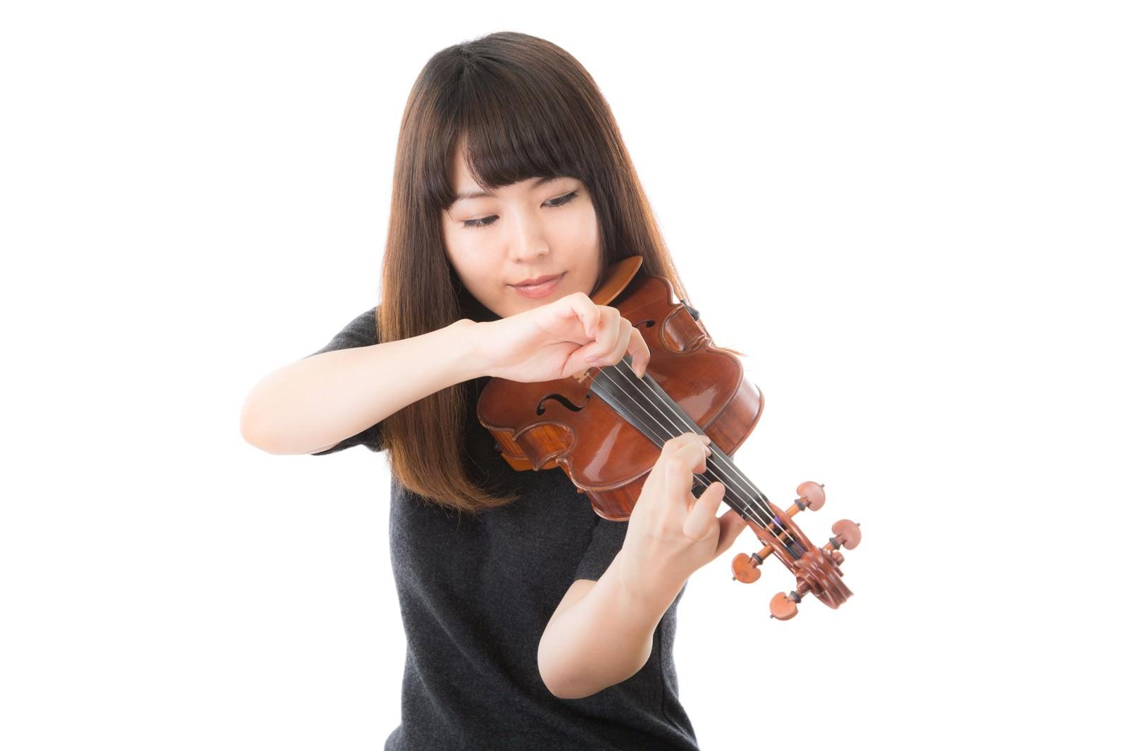 「ピッチカート奏法」の写真[モデル:yukiko]