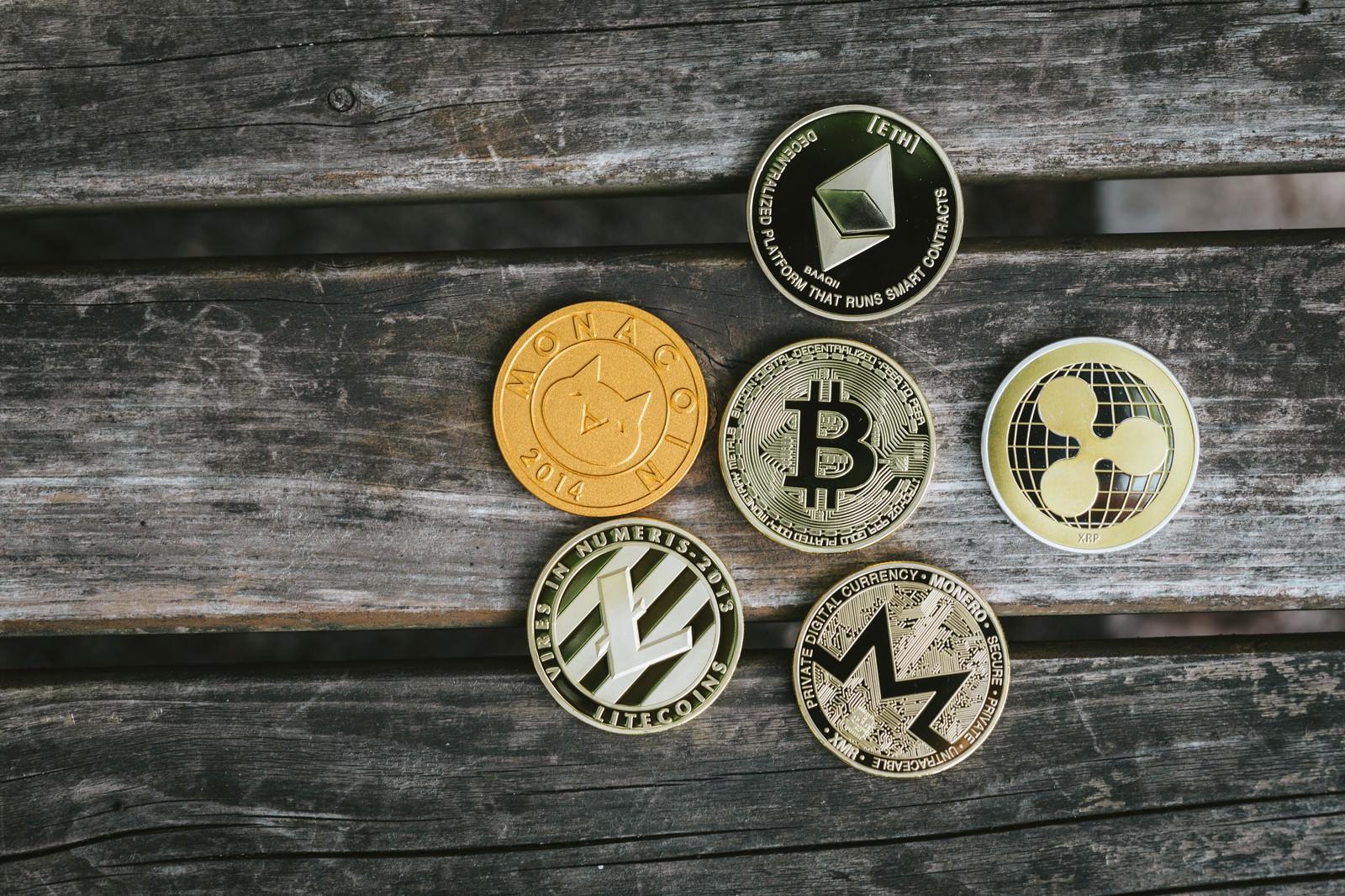 「ビットコインを草コインが囲む」の写真