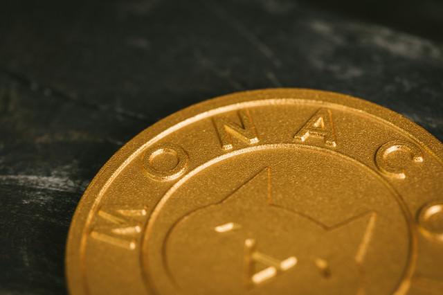 国産の仮想通貨(モナコイン)の写真