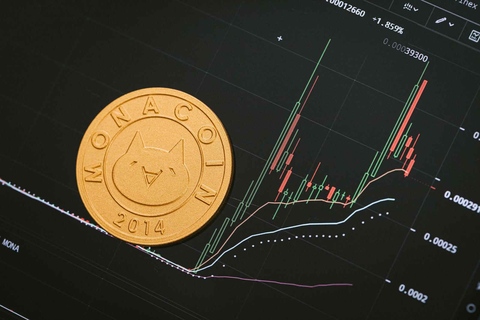 「高騰するモナコイン」の写真