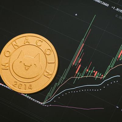 高騰するモナコインの写真