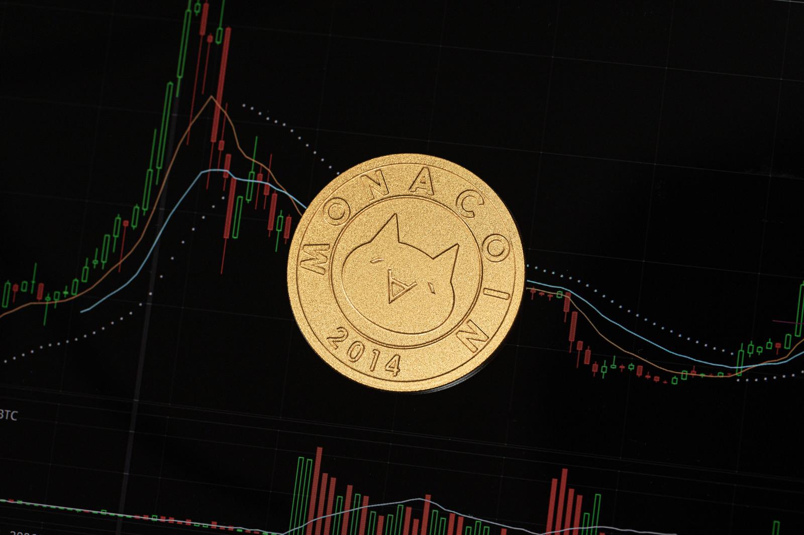 「仮想通貨のチャートとモナコイン」の写真