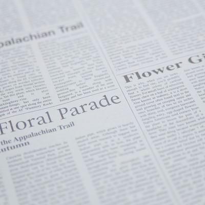 「英語の新聞」の写真素材