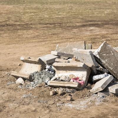 「コンクリートの瓦礫」の写真素材
