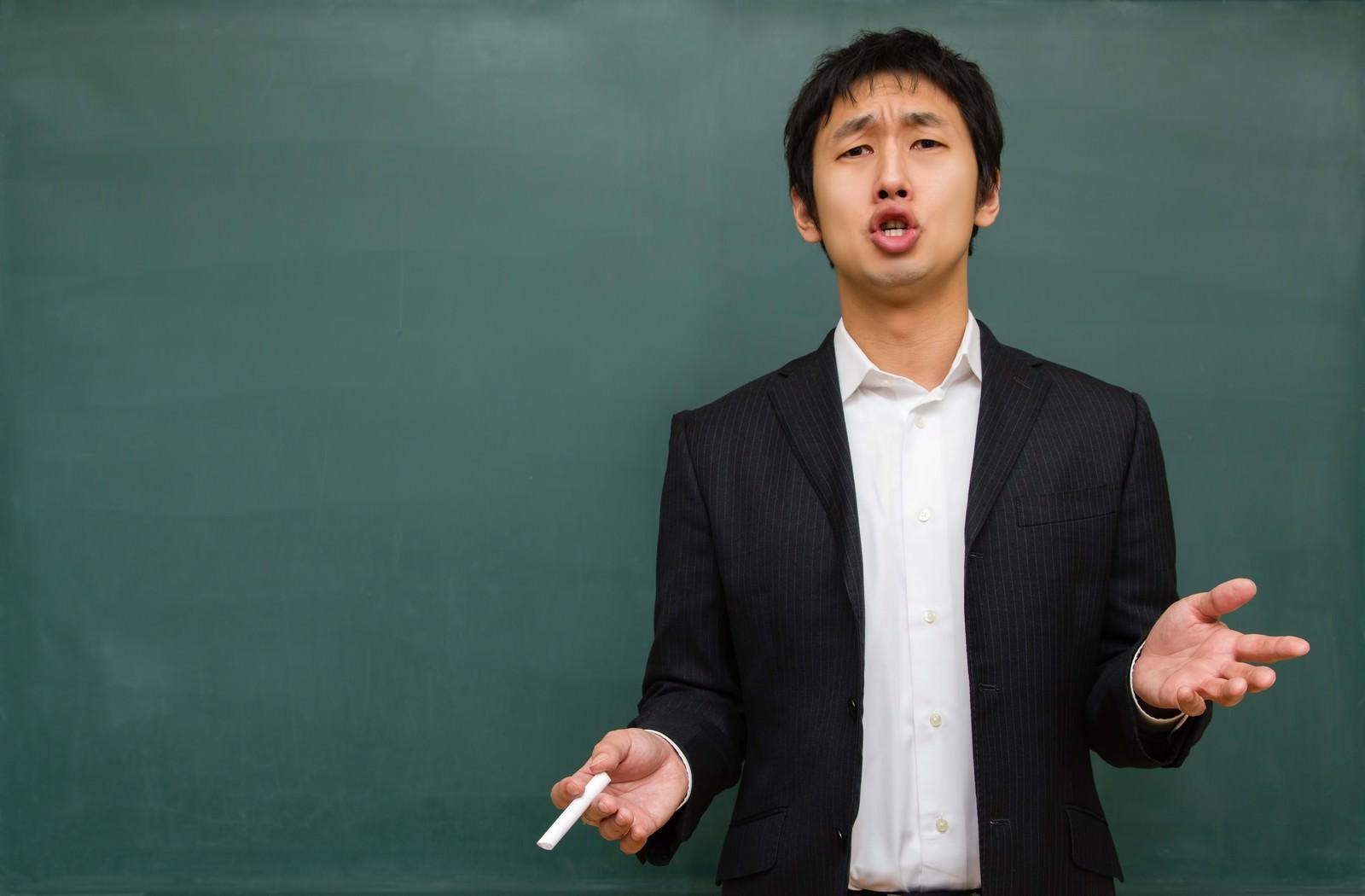 「受験の今を語る塾講師」の写真[モデル:大川竜弥]
