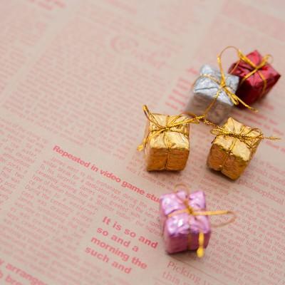英語のプレゼントの写真