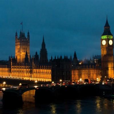 「ロンドンの夜」の写真素材