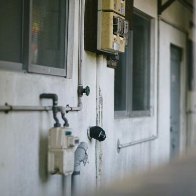 「住民がいなくなった社宅」の写真素材