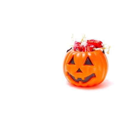 「飴が入ったおばけかぼちゃ」の写真素材