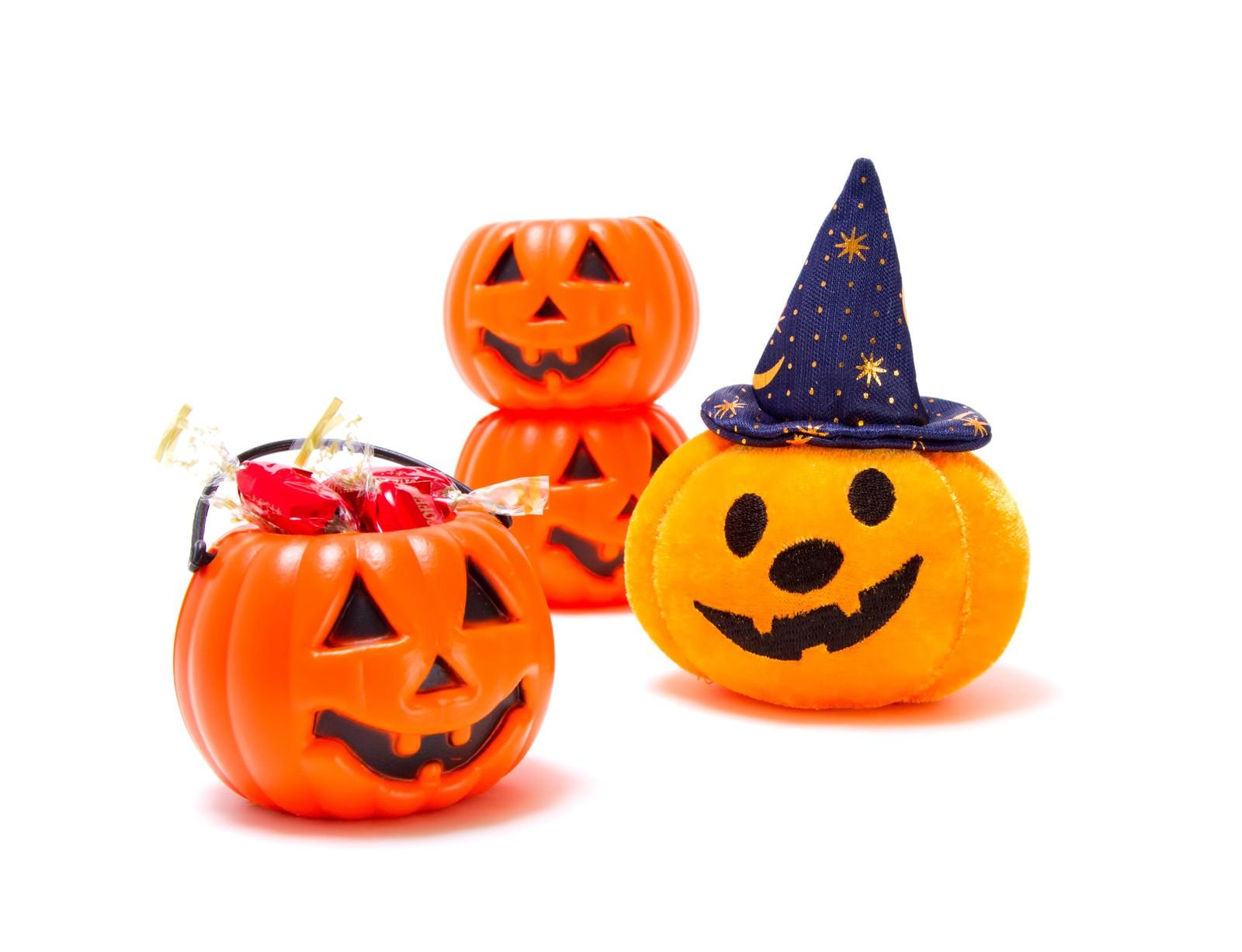 「ゆる顔のハロウィンかぼちゃ」の写真