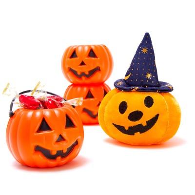 「ゆる顔のハロウィンかぼちゃ」の写真素材