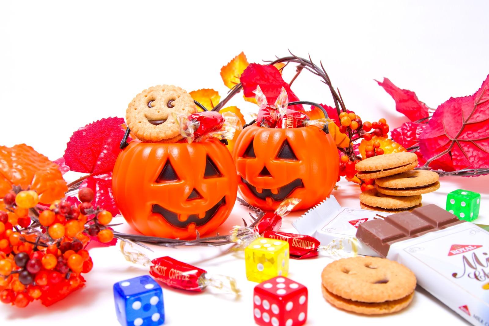 「おばけのかぼちゃとお菓子」の写真