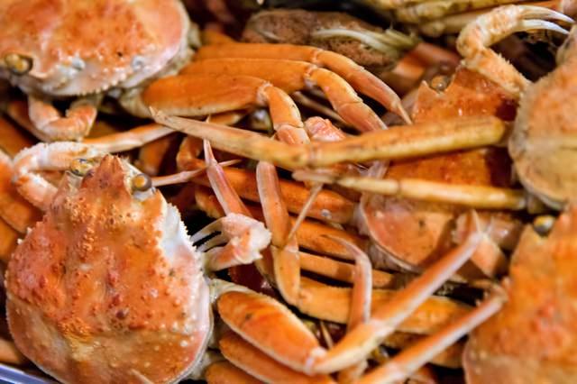 ボイルされた蟹の写真