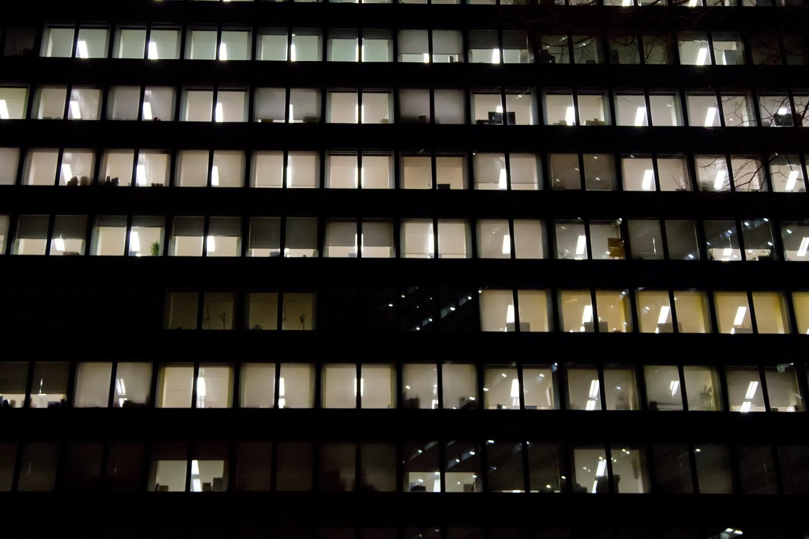 「眠らないオフィス」の写真