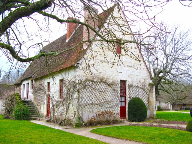シュノンソー城の近くにあった小屋の写真