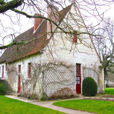 「シュノンソー城の近くにあった小屋」の写真素材