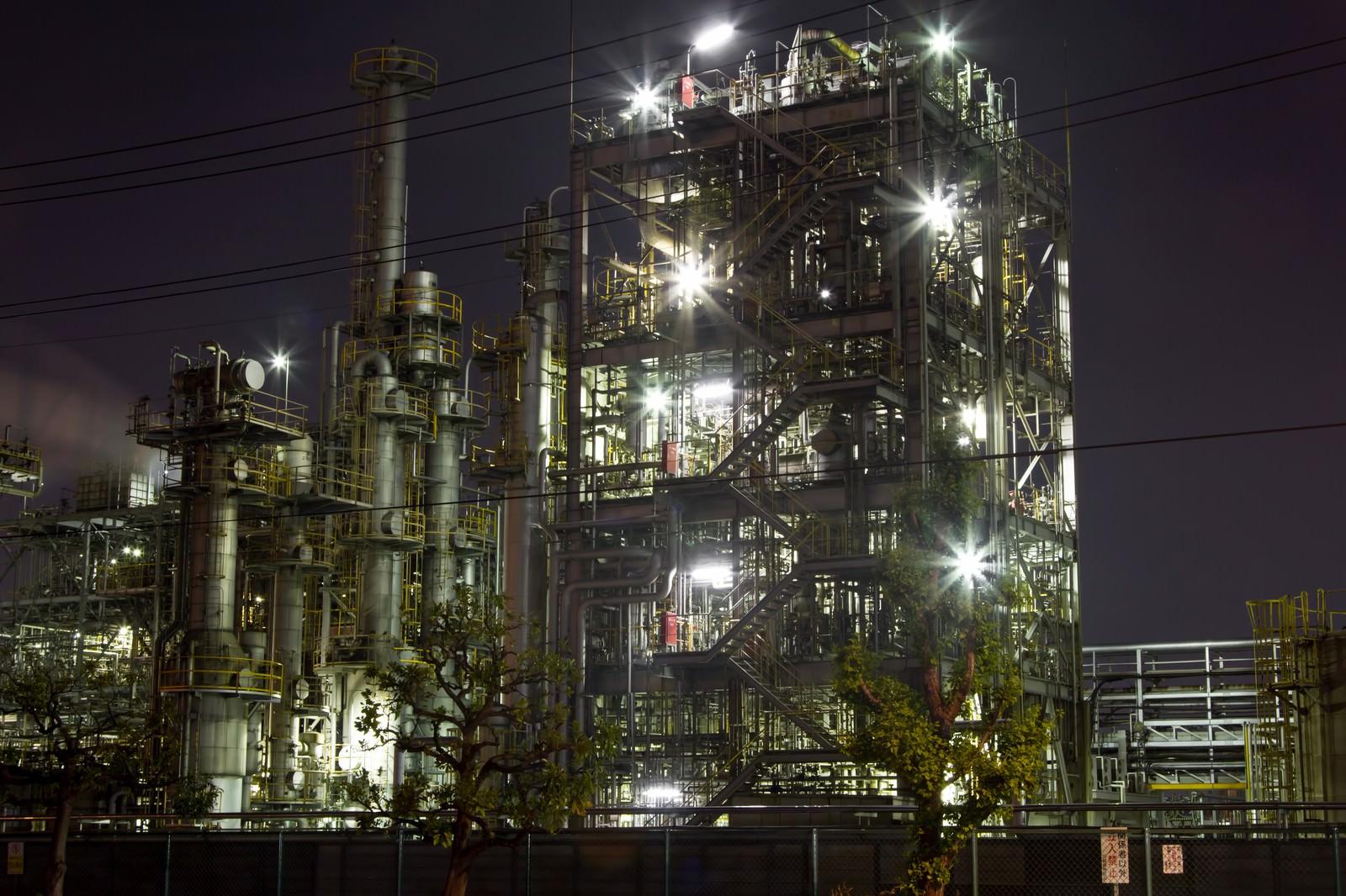 「千鳥町の工場地帯」の写真