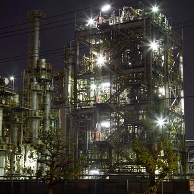 「千鳥町の工場地帯」の写真素材