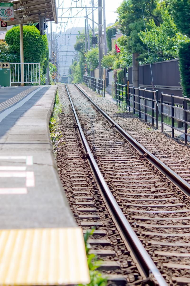 「江ノ電の線路」の写真