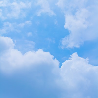 「雲と青空」の写真素材