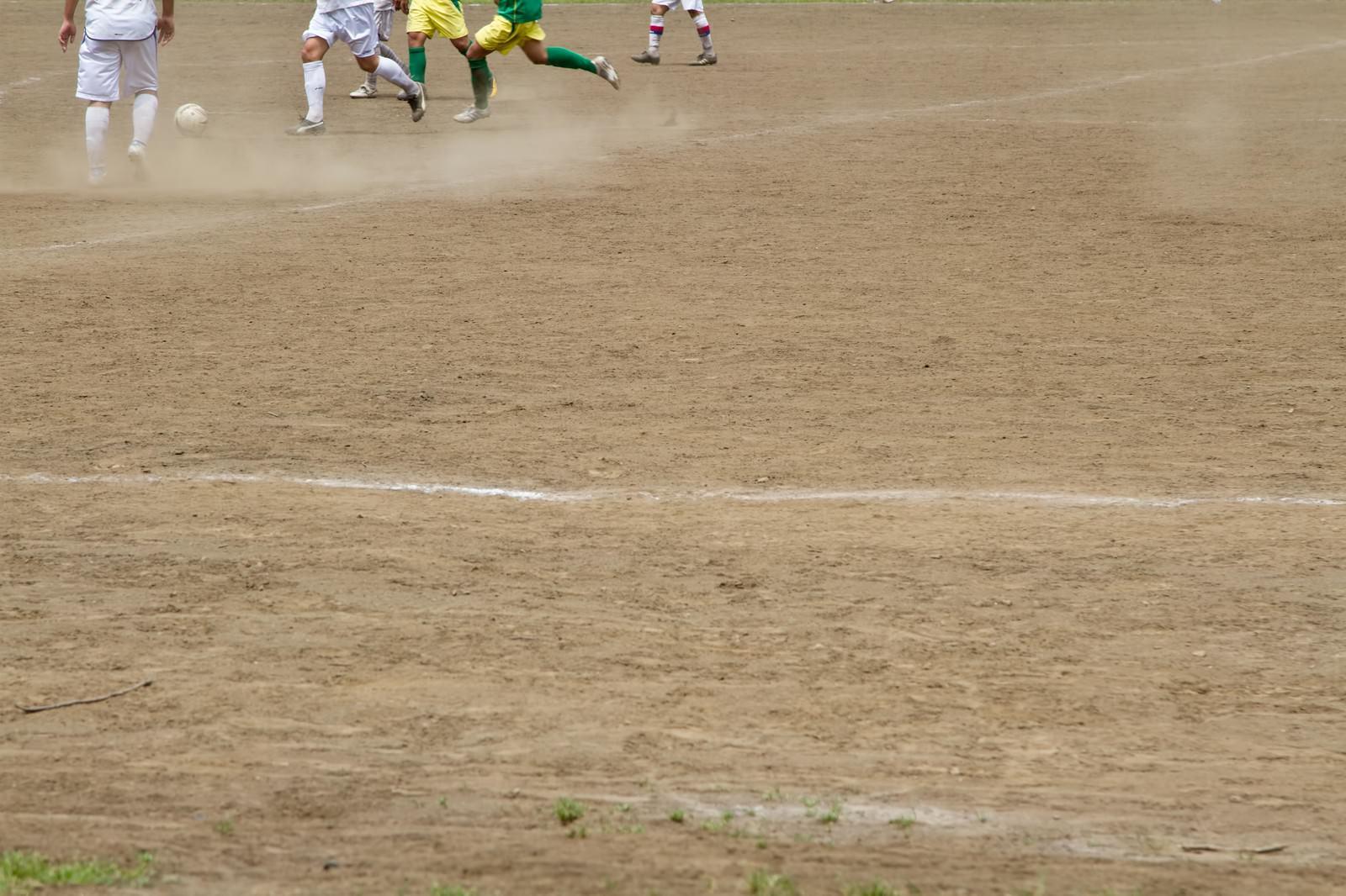 「サッカーの試合」の写真
